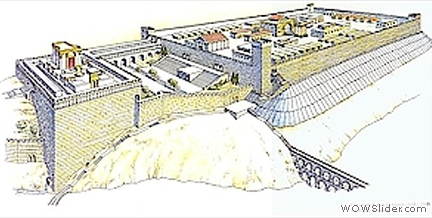 Herod's Temple With Roman Camp